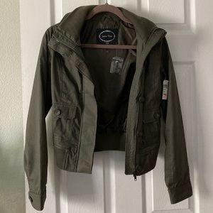 Brand new hooded utility jacket